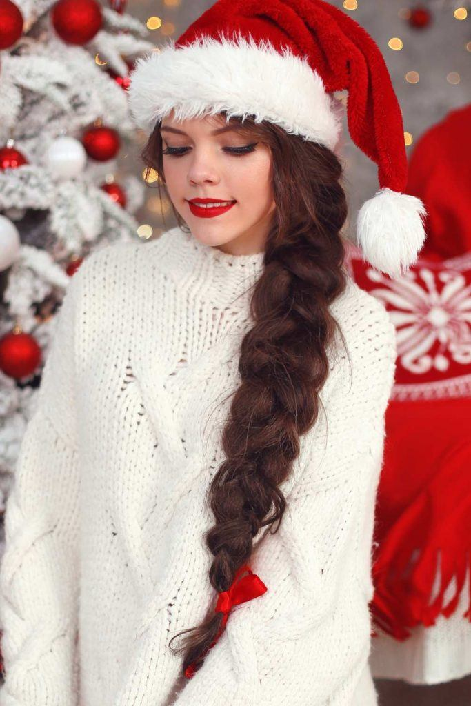 Side Braid Holiday Hairstyle