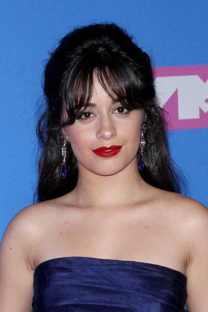 Camila Cabello with Curtain Bangs