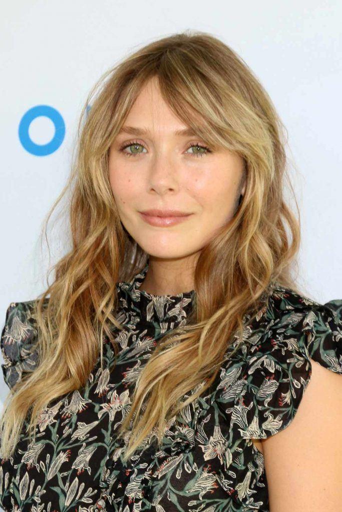 Elizabeth Olsen with Curtain Bangs