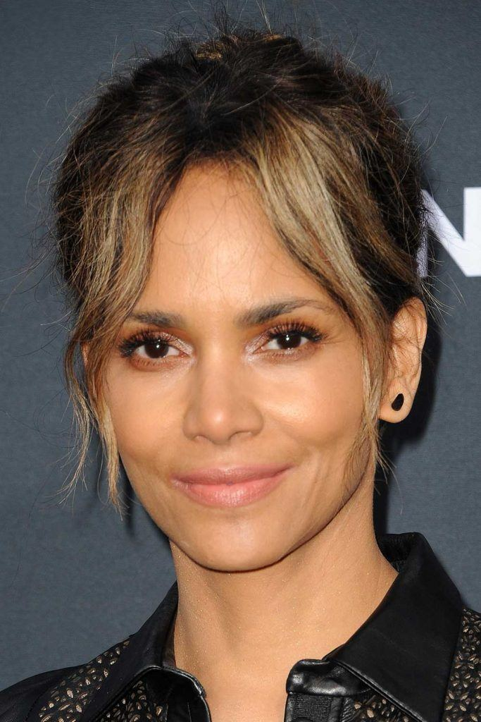 Halle Berry with Curtain Bangs