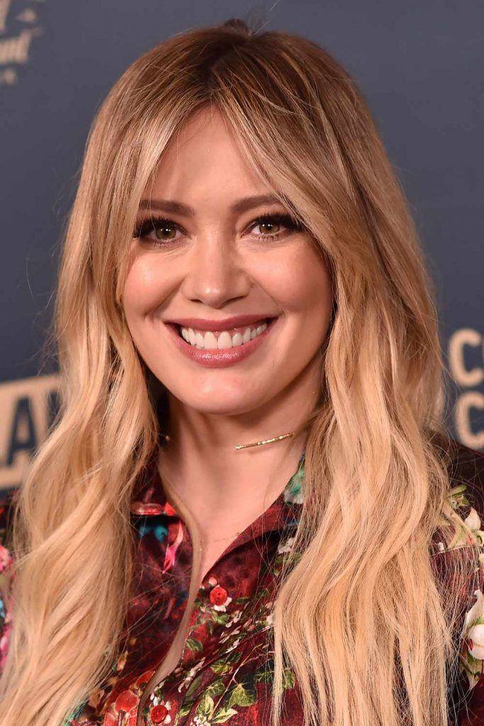 Hilary Duff with Curtain Bangs