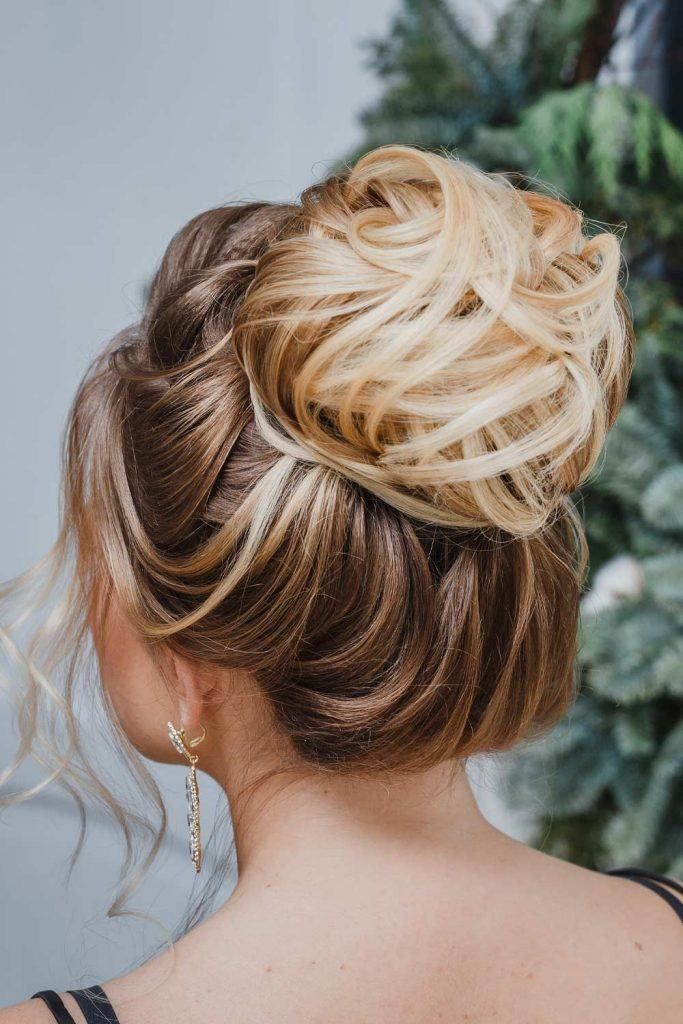 Christmas Updo with High Bun