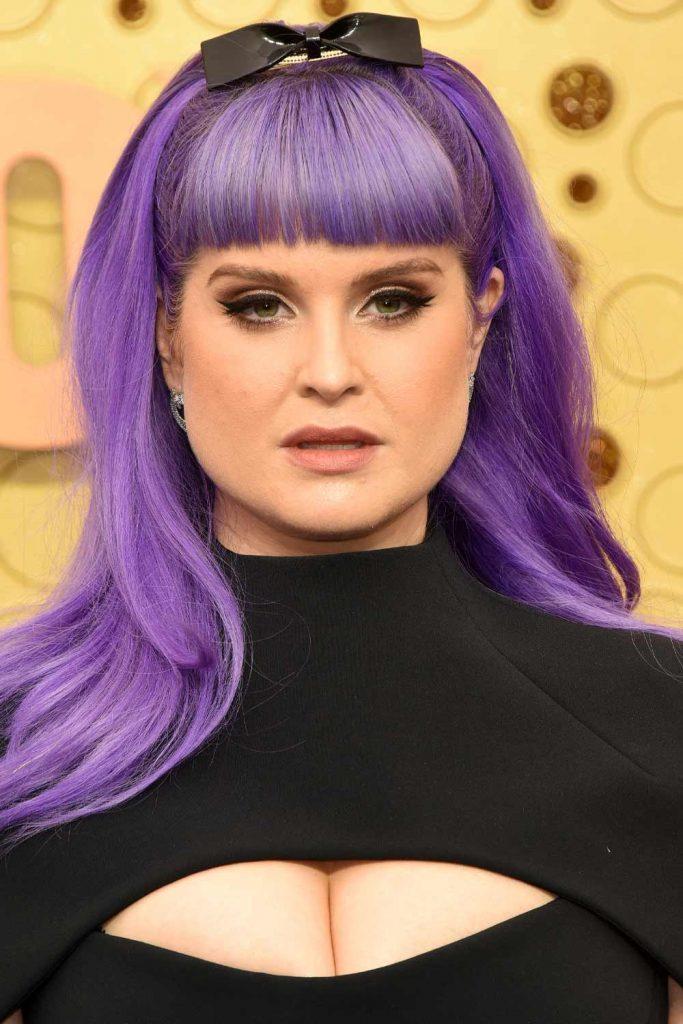 Kelly Osbourne with Purple Hair
