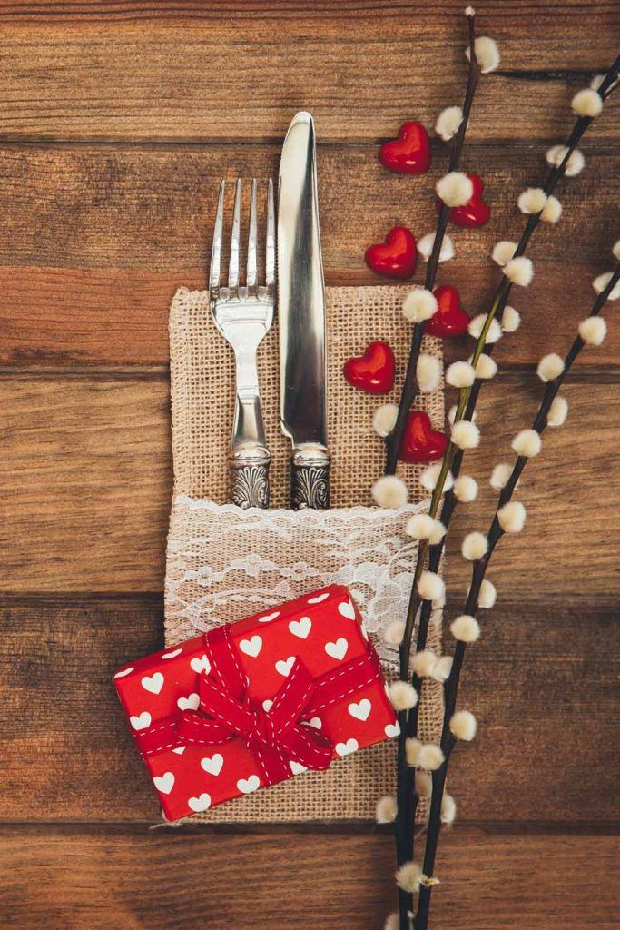 Valentines Day Napkin Ring with Branch