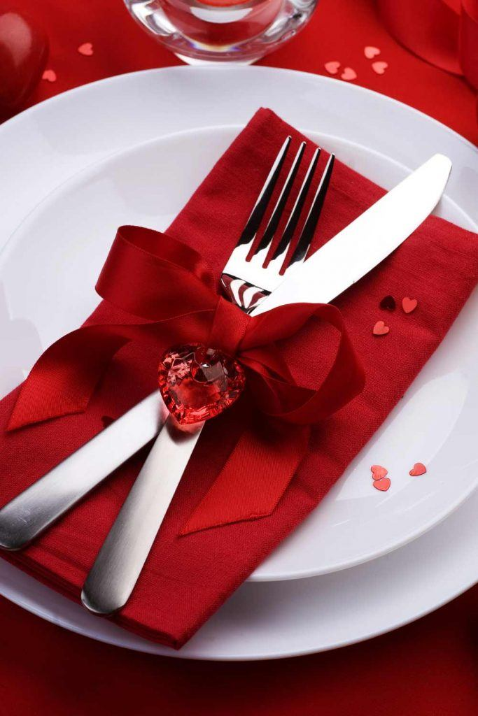Napkin Ring with Crystal Heart