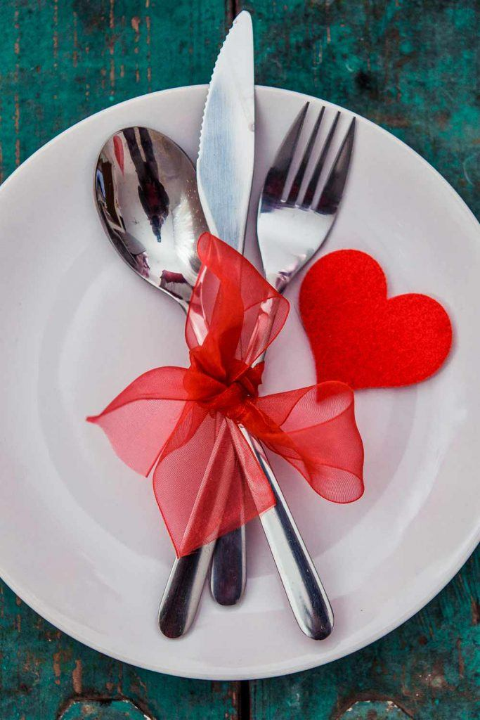 Napkin Ring Decor with Red Ribbon