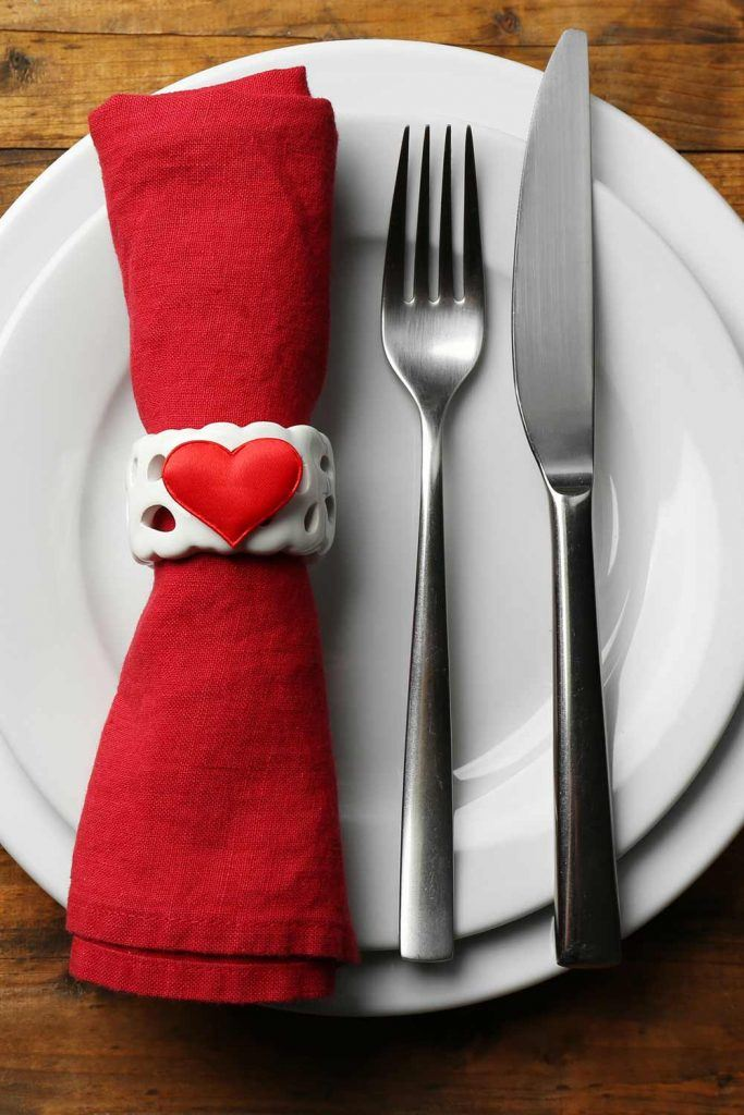 Valentines Day Napkin Ring with Heart