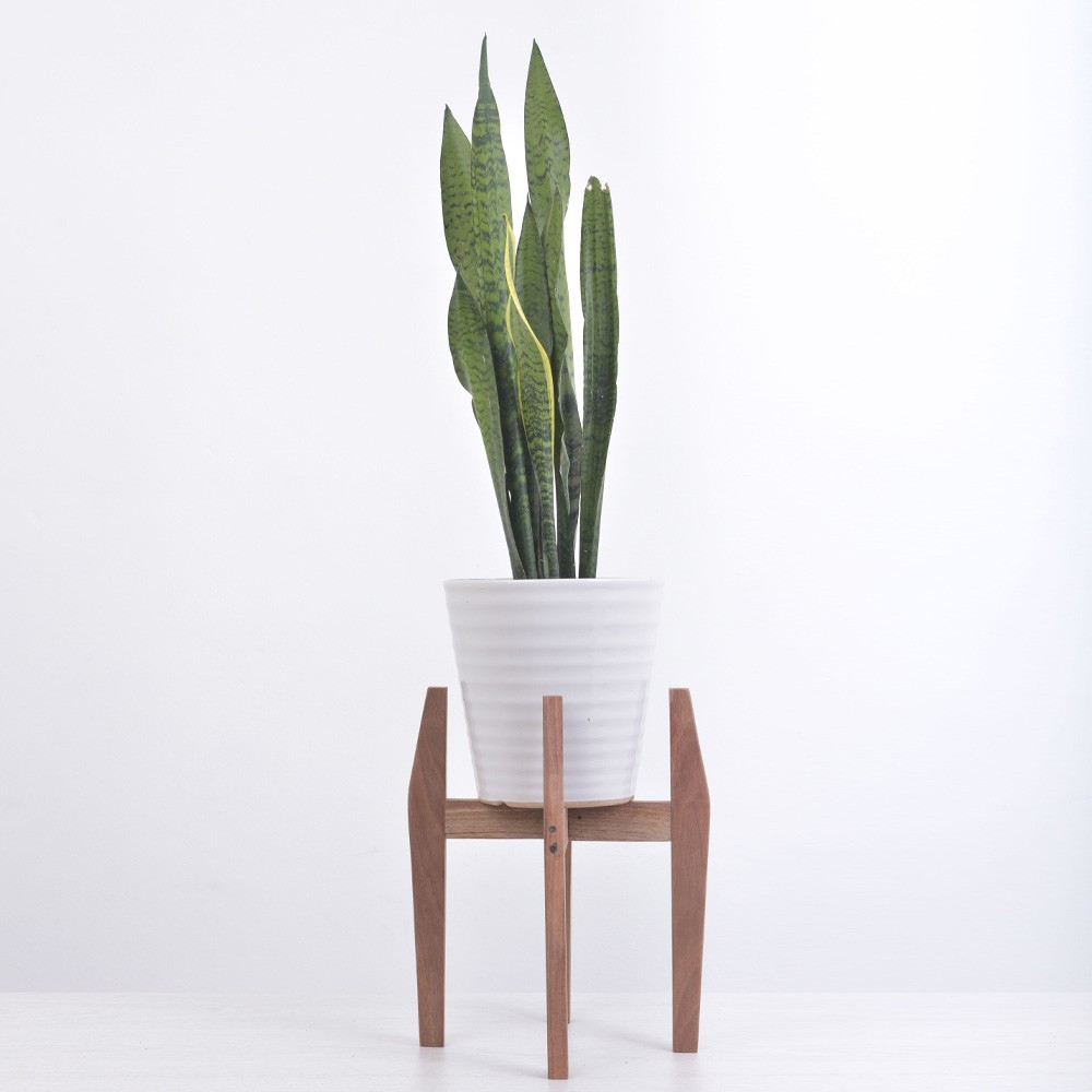 Wood Round Plant Stand