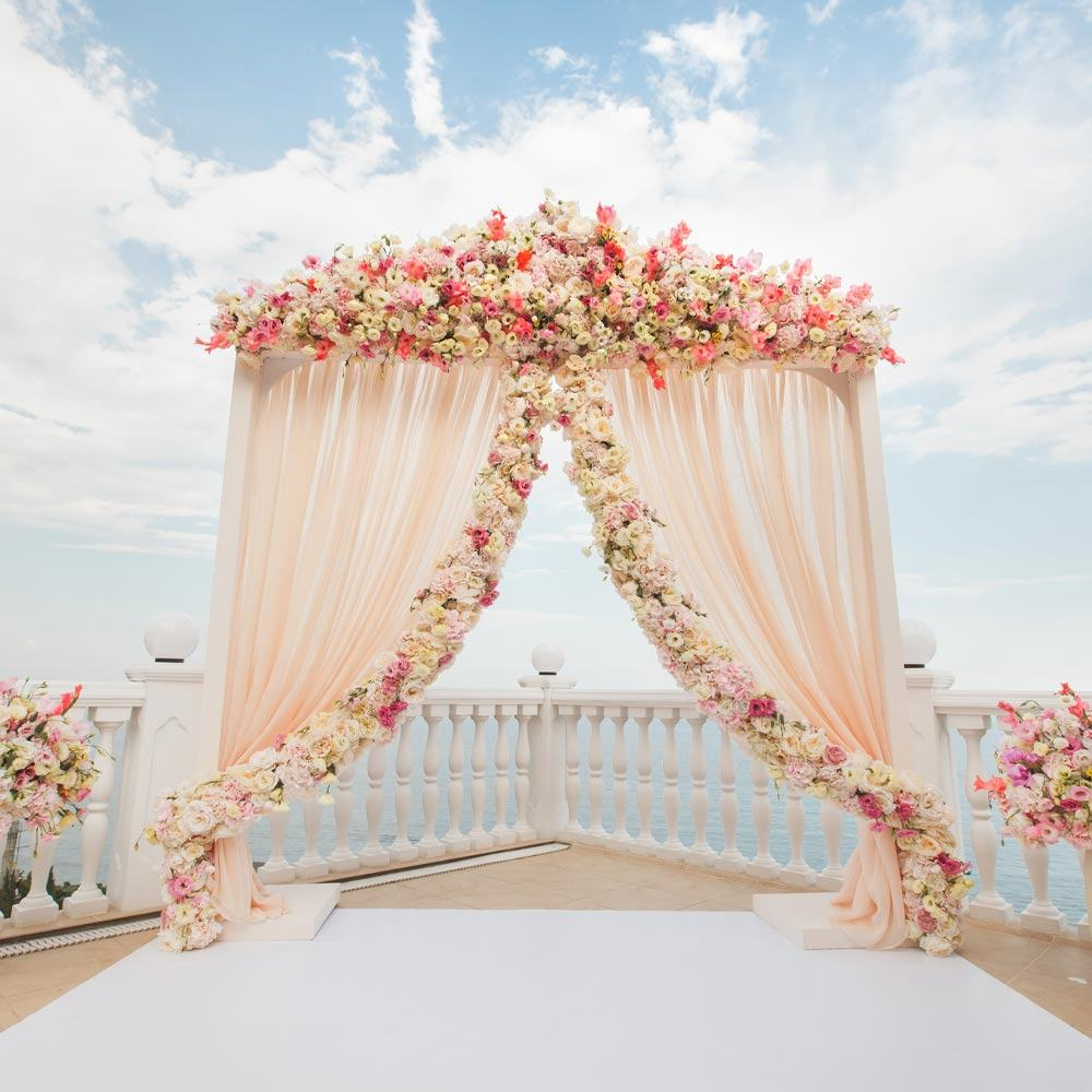 Wedding Arch with Textures and Flowers