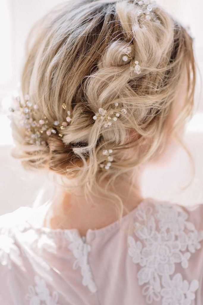 Braided Updo Hairstyle for Wedding Day