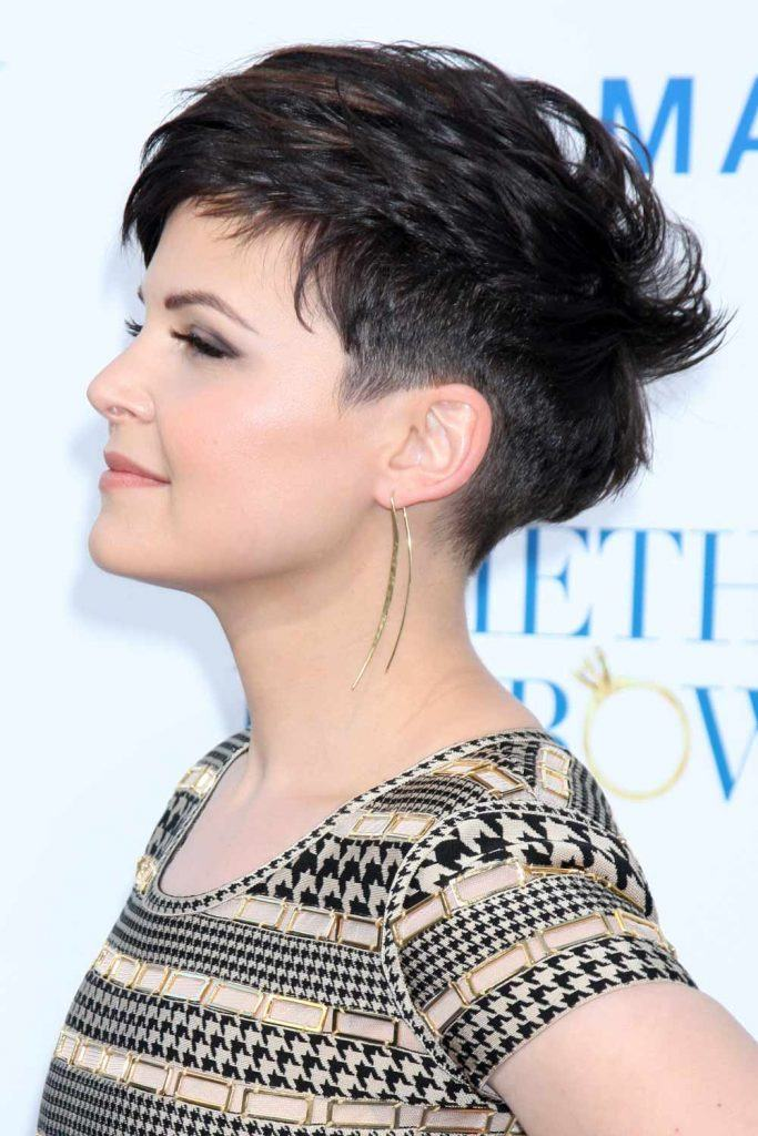 Ginnifer Goodwin with Dark Undercut Pixie