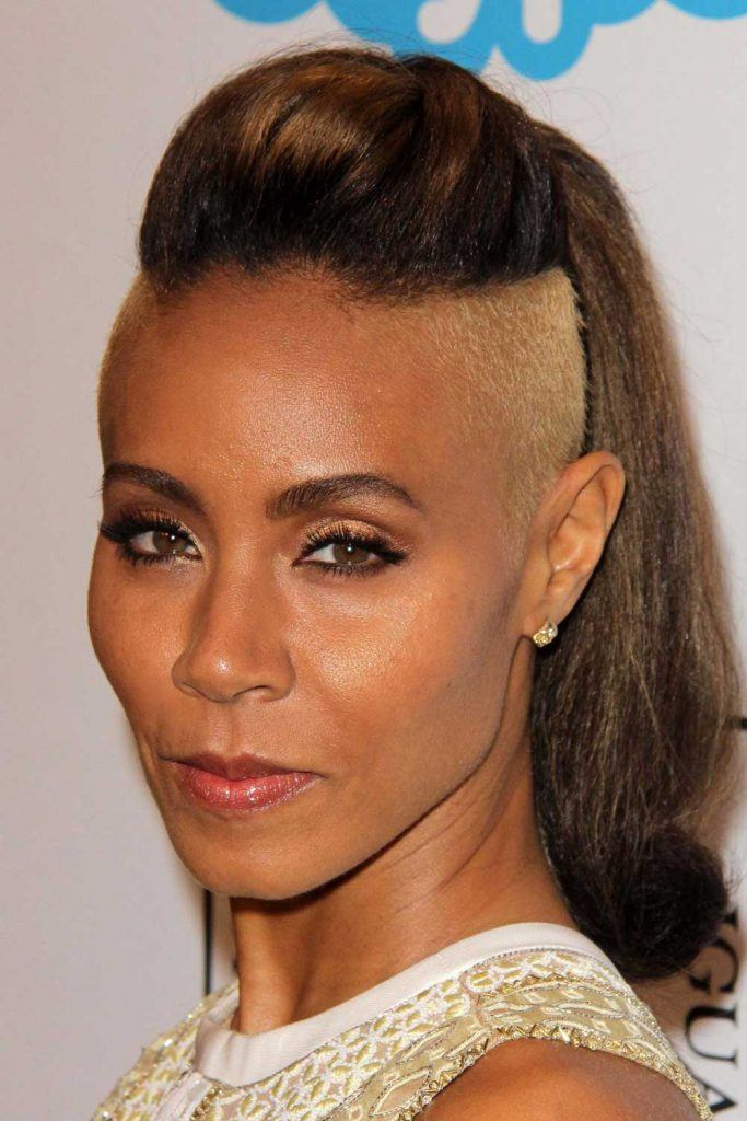 Long Hair with Undercut of Jada Pinkett Smith