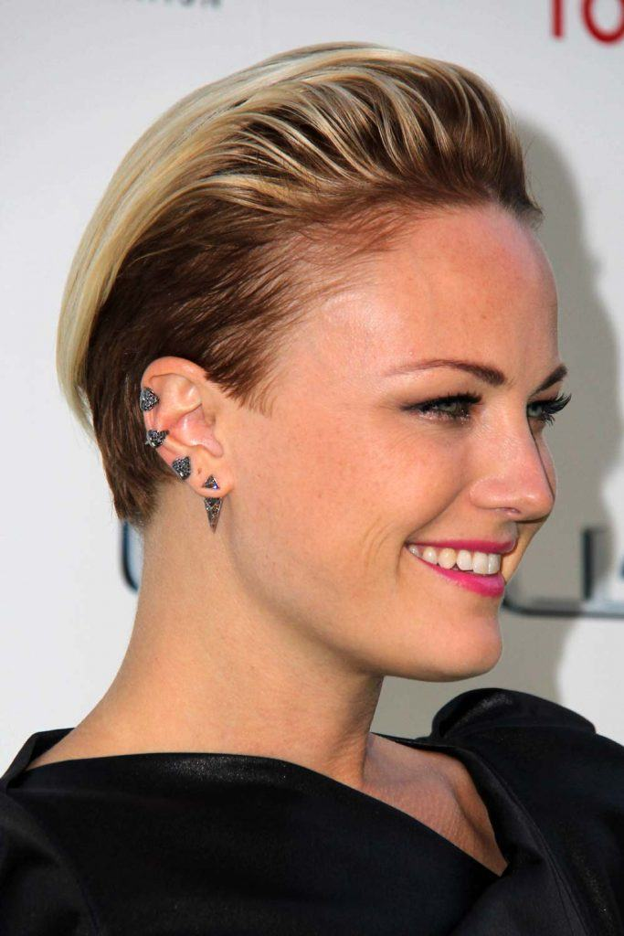 Malin Akerman with Undercut