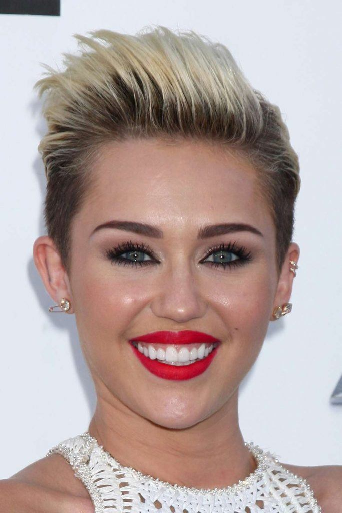 Miley Cyrus with Undercut Pixie