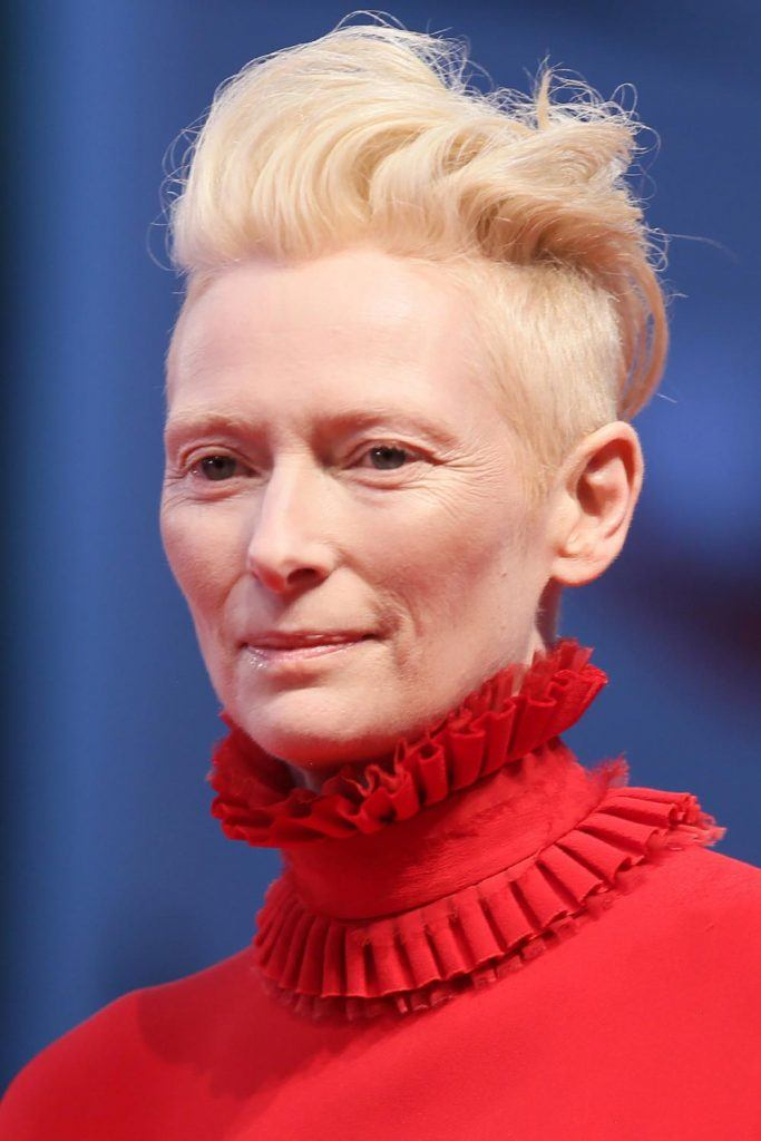 Tilda Swinton with Undercut Pixie