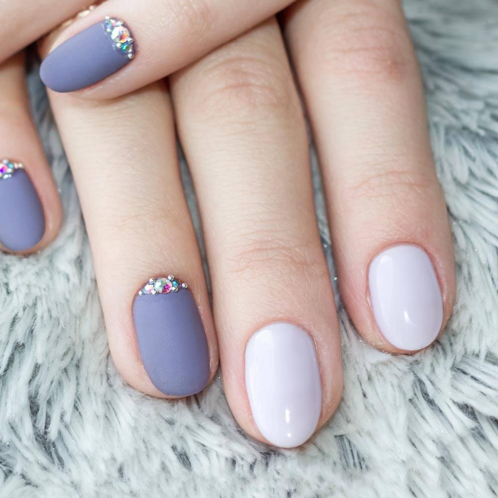 Grey Matte Acrylic Nails