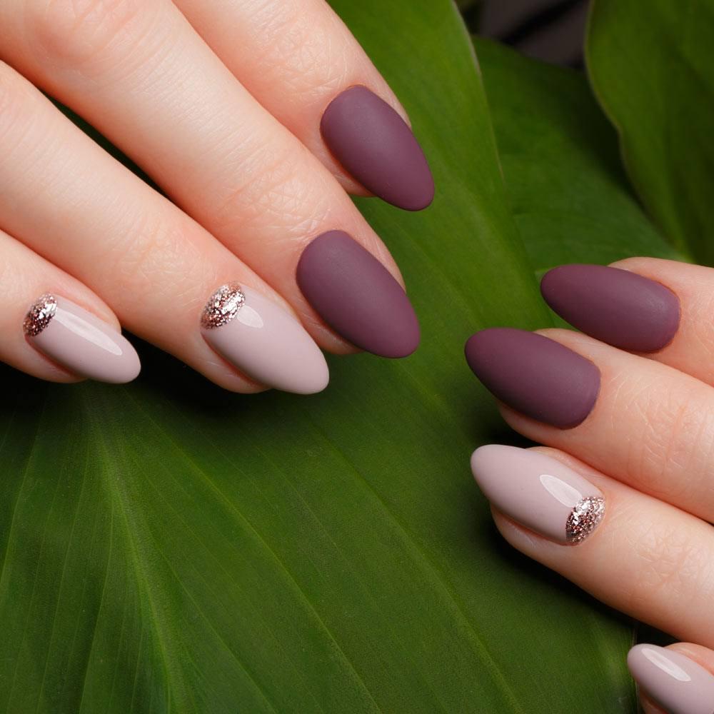 Matte Burgundy Acrylic Nails