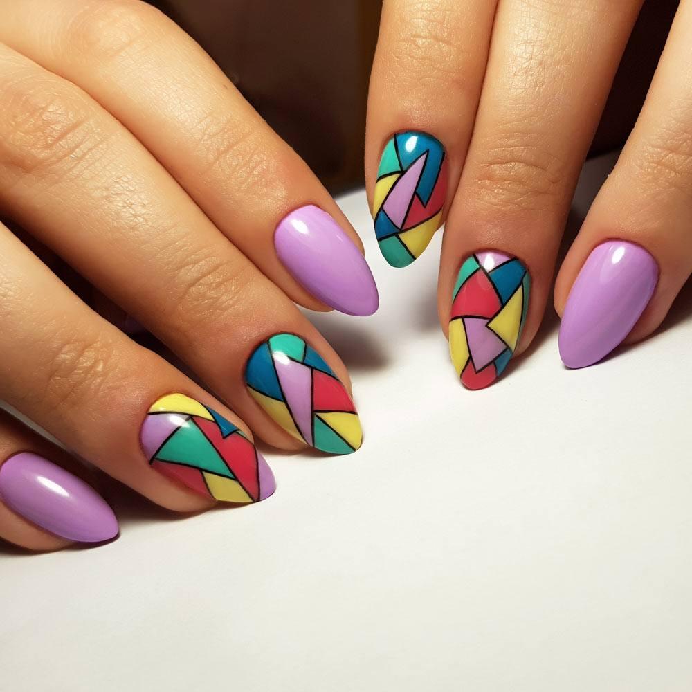 Geometric Acrylic Nails