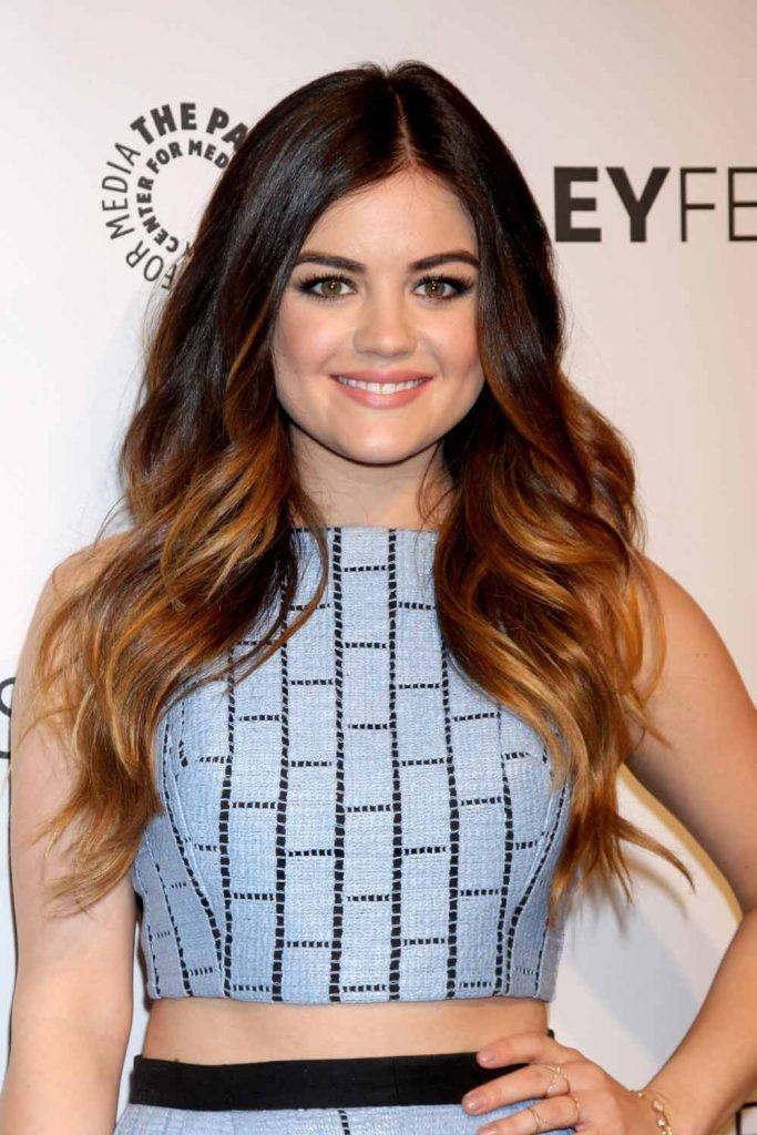 Lucy Hale With Long Balayage Layers