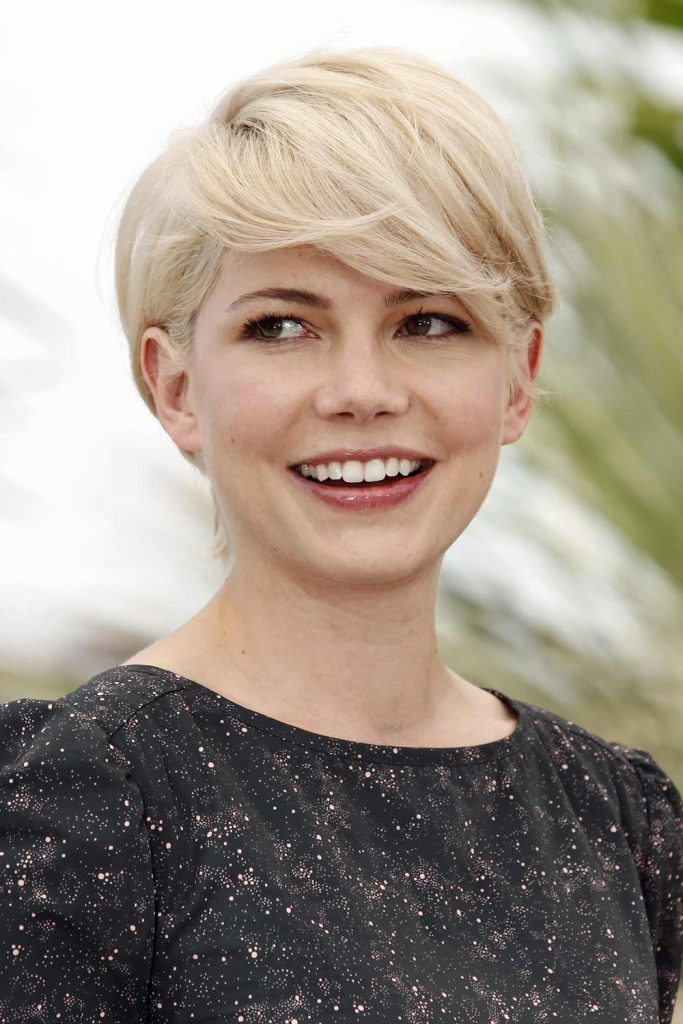 Michelle Williams with Blonde Side Pixie