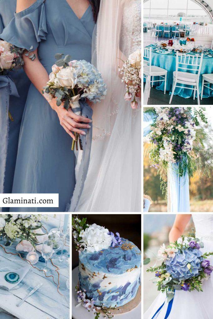 Slate Blue Wedding