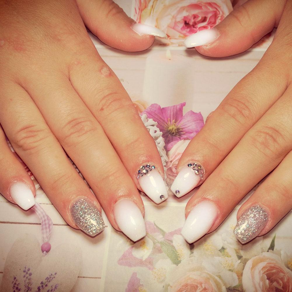 Glam Rhinestones Nail Art