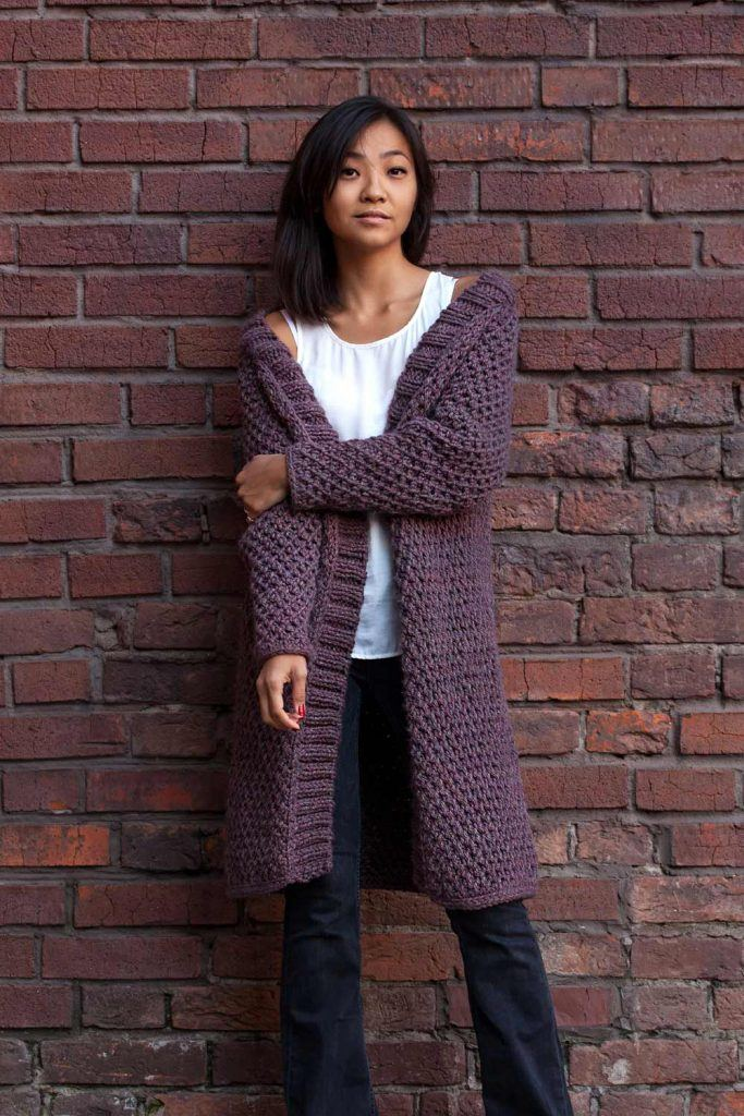 Simple Look with Long Cardigan