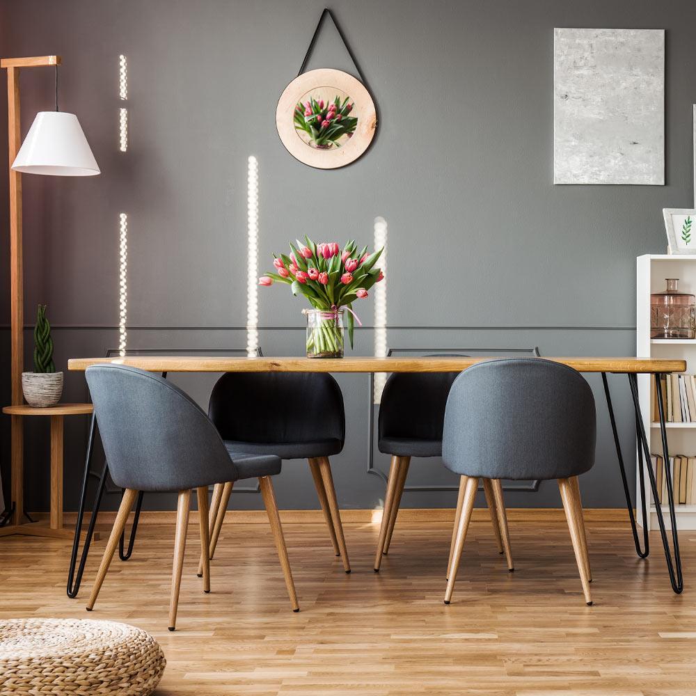 Dark Walls Dining Room Idea