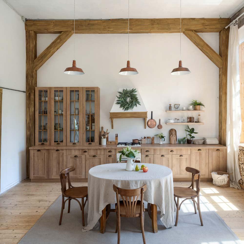 Farmhouse Rustic Dining Room