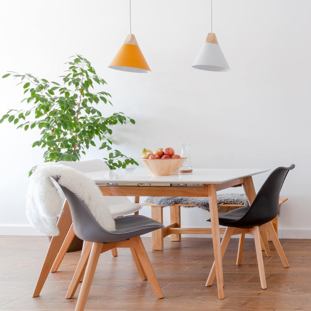 Modern Light Colored Dining Room