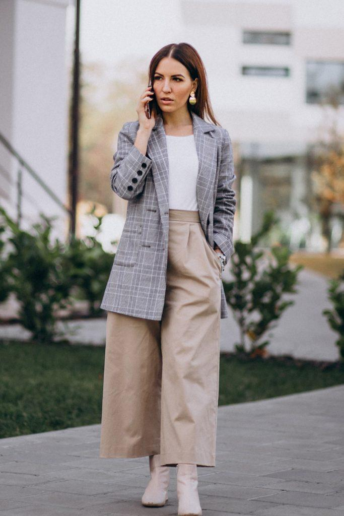 Wide Pants Work Outfit