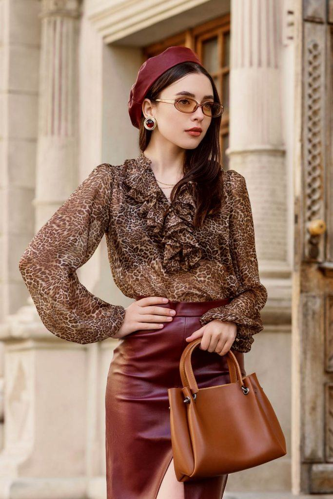 Leopard Blouse Work Outfits