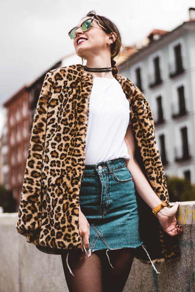 Short Leopard Fur Coat