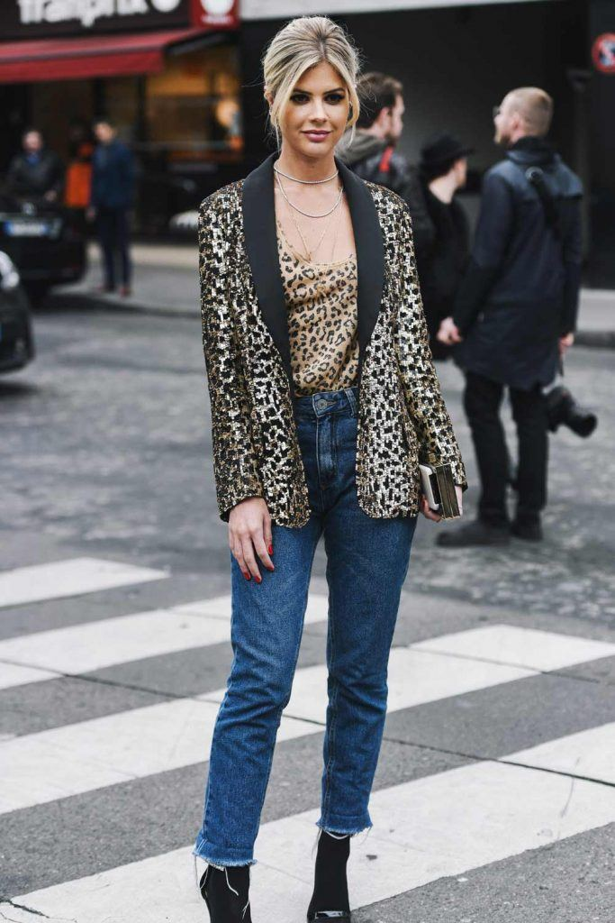 Leopard Print Jacket and Top