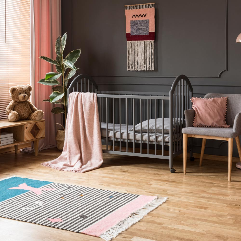 Boys Nursery with Dark Walls