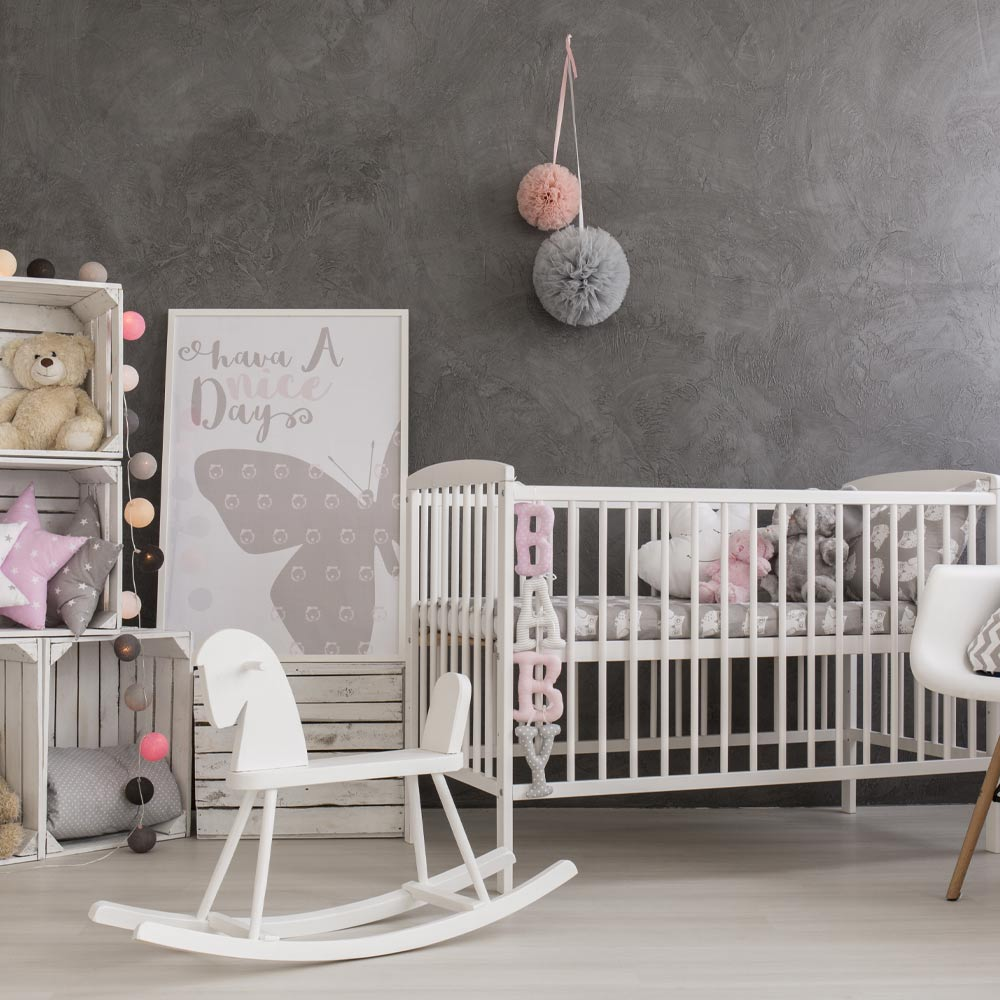 Nursery Idea with Grey Walls