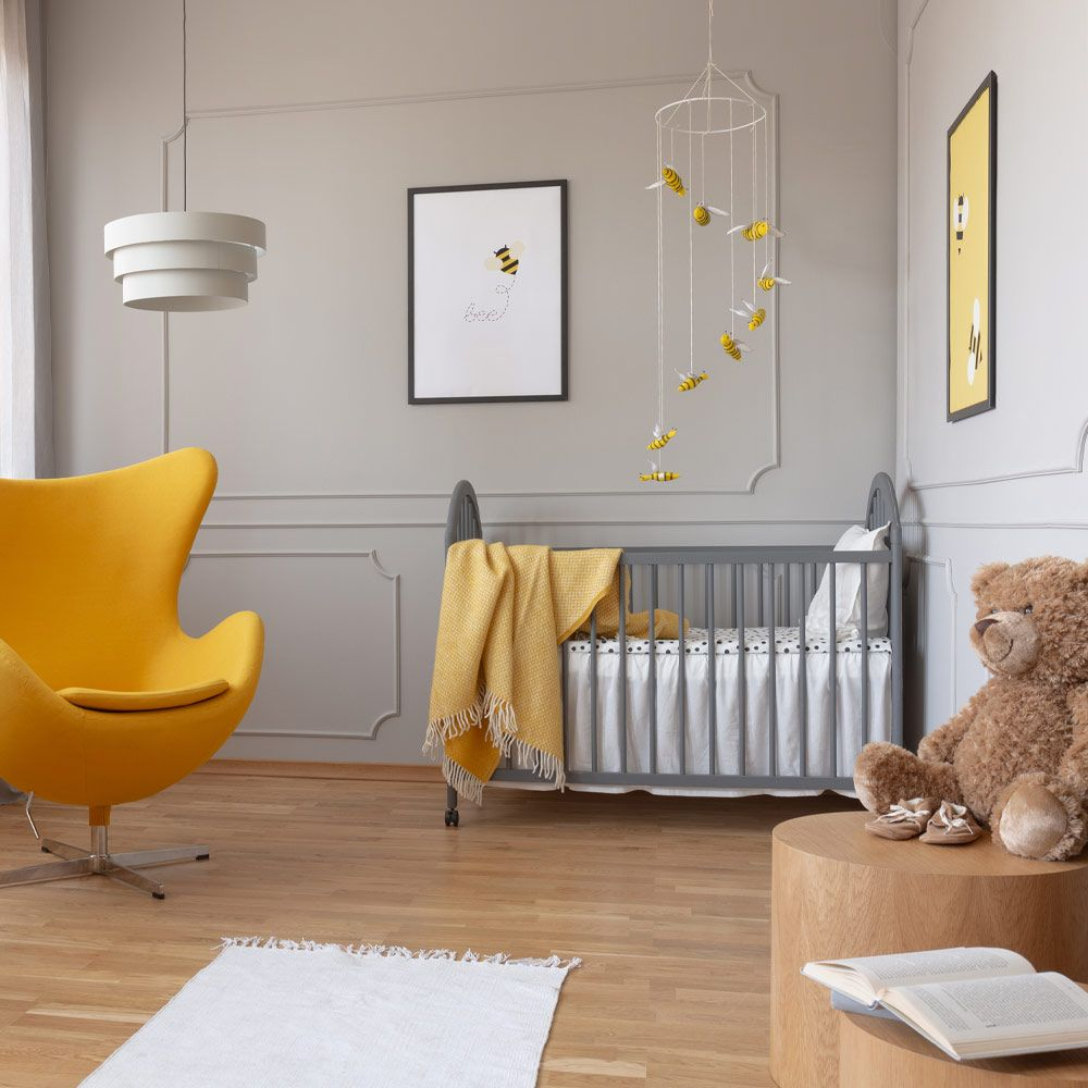 Grey with Yellow Accent Nursery