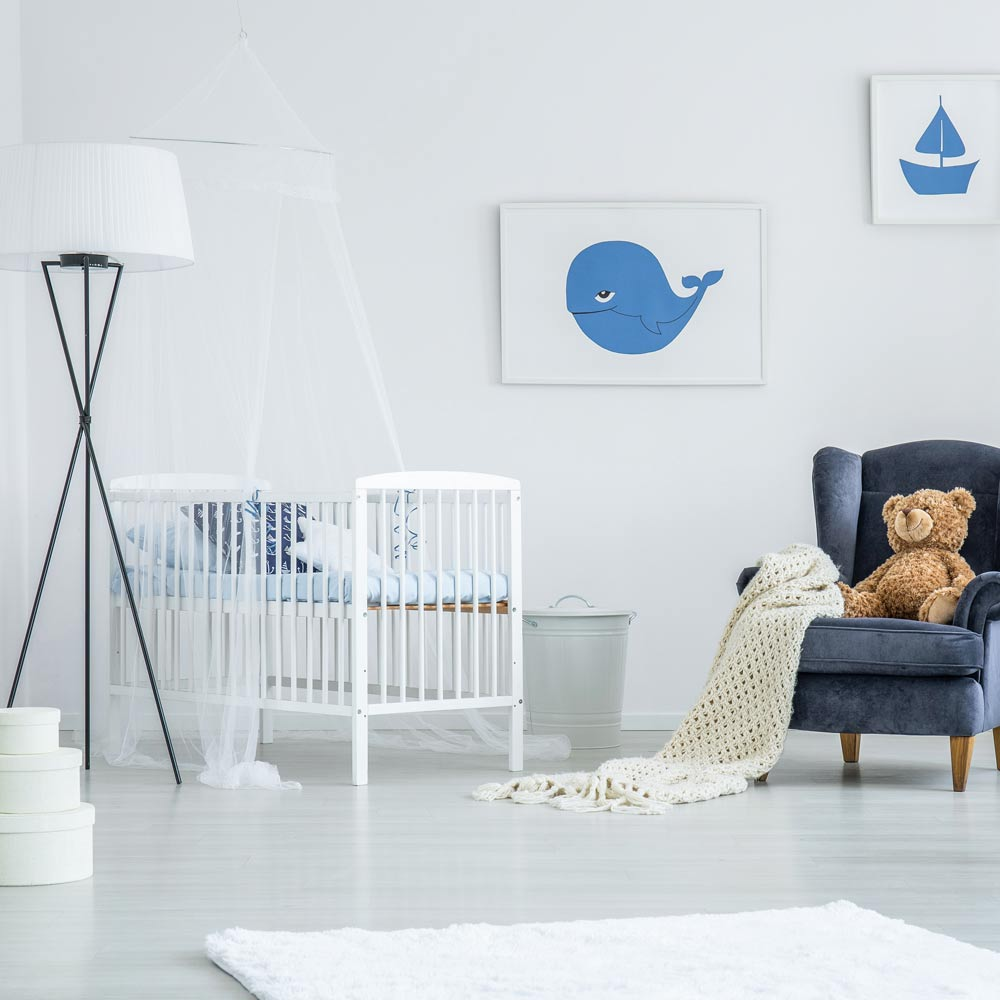 White Colored Nursery for Boy