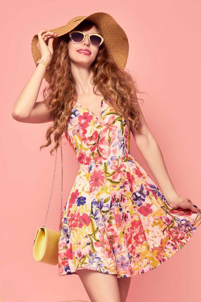 Short Spring Floral Dress
