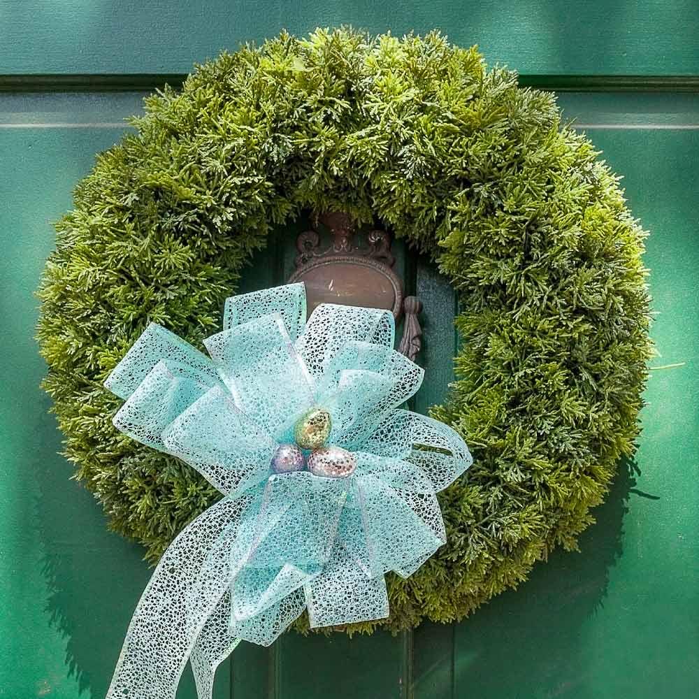 Green Wreath wiith Bow
