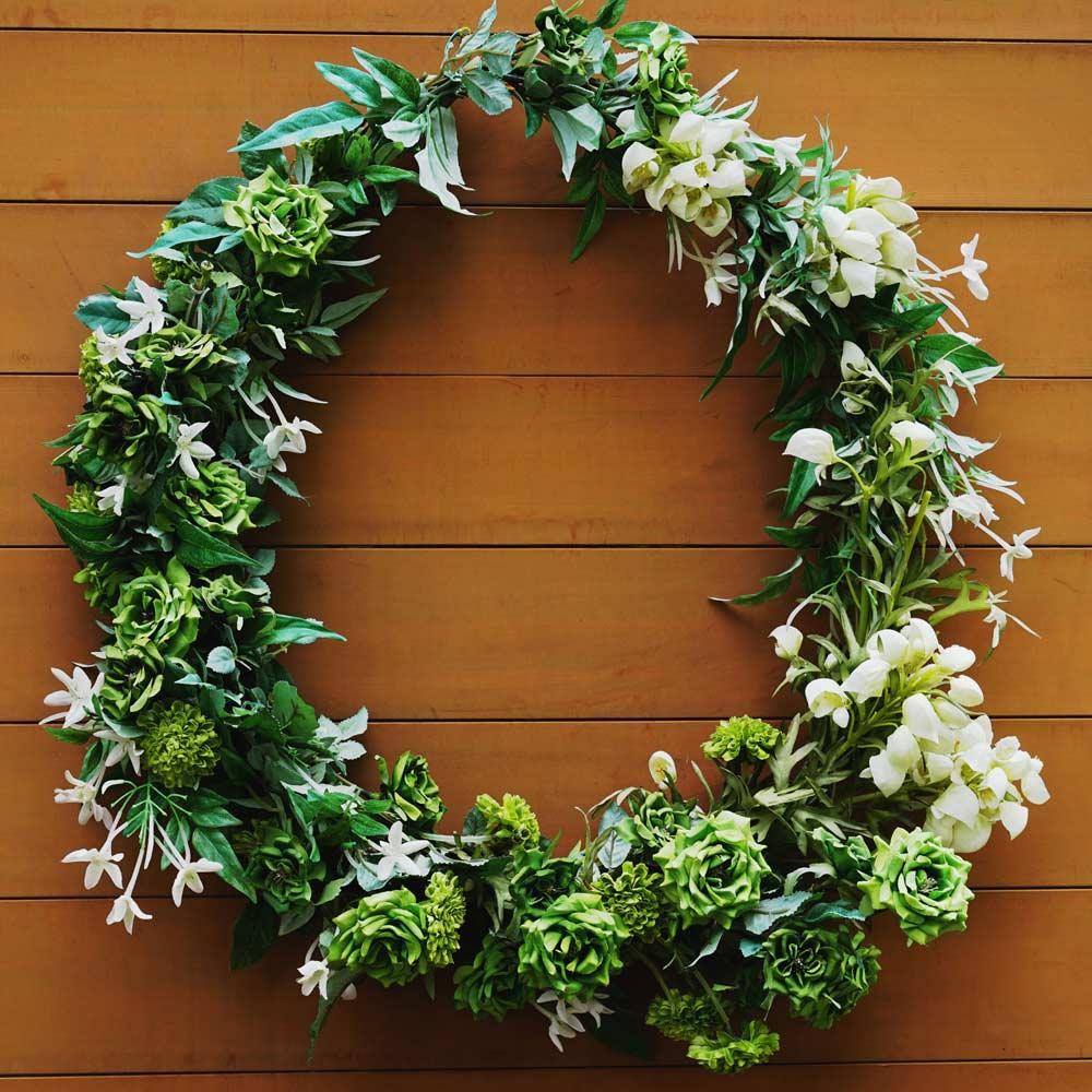 Green Spring Wreath Design
