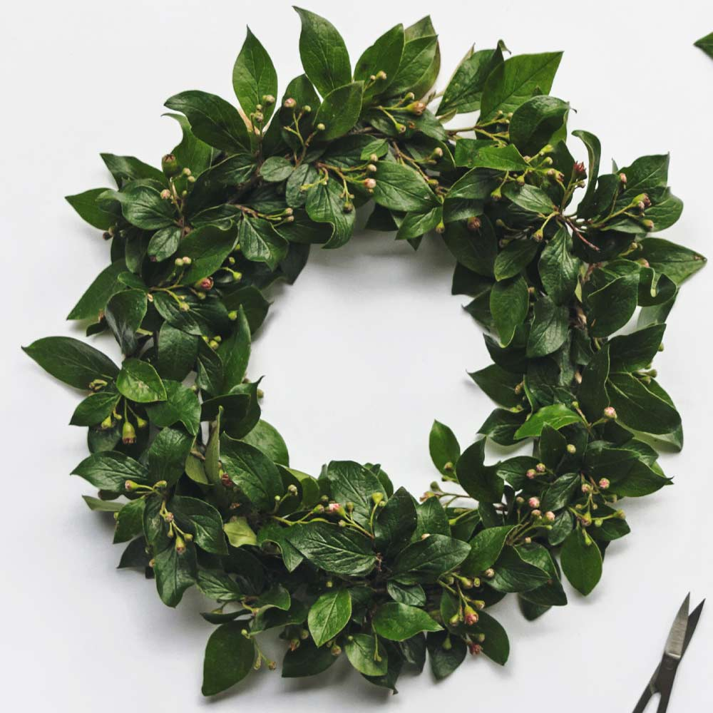 Spring Wreath with Leaves