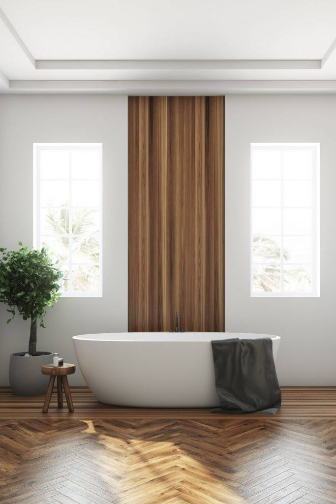 White and Brown Bathroom Decor