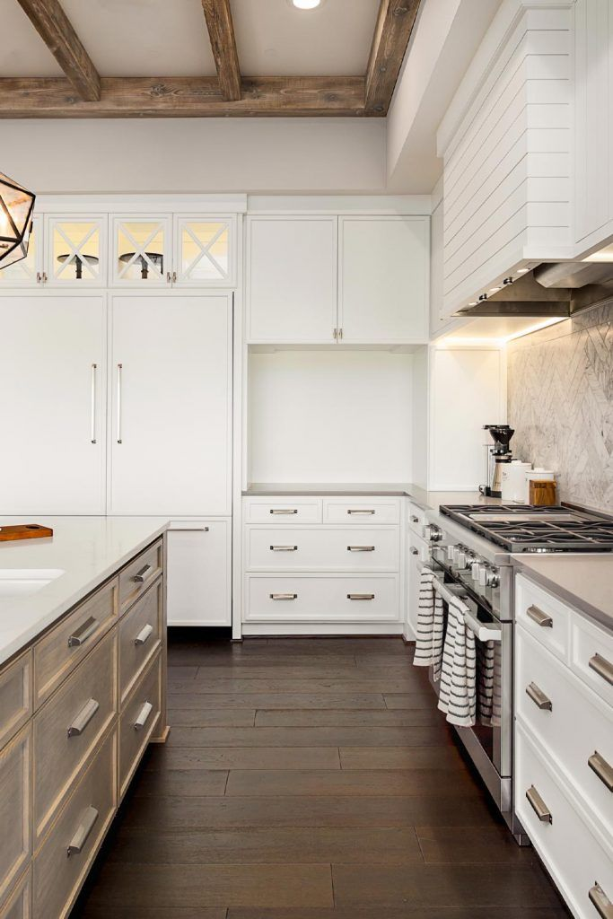 White and Brown Kitchen Design