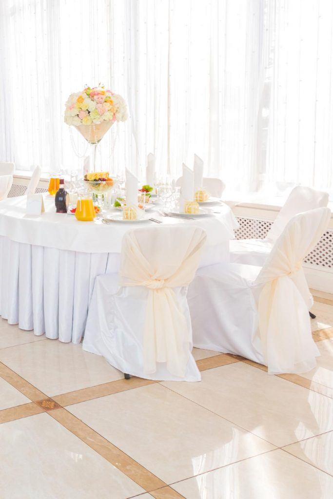 White Chair Covers for White Wedding