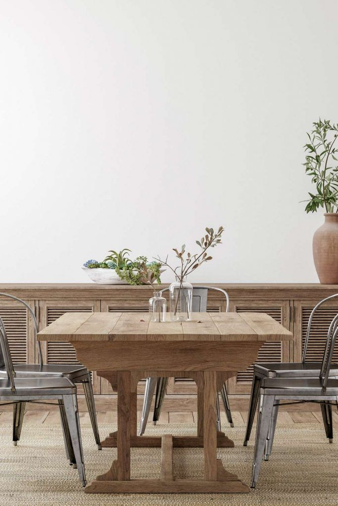 Dining Room with Rustic Accent