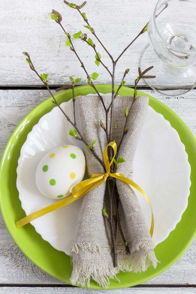 Easter Napkin Ring with Branch