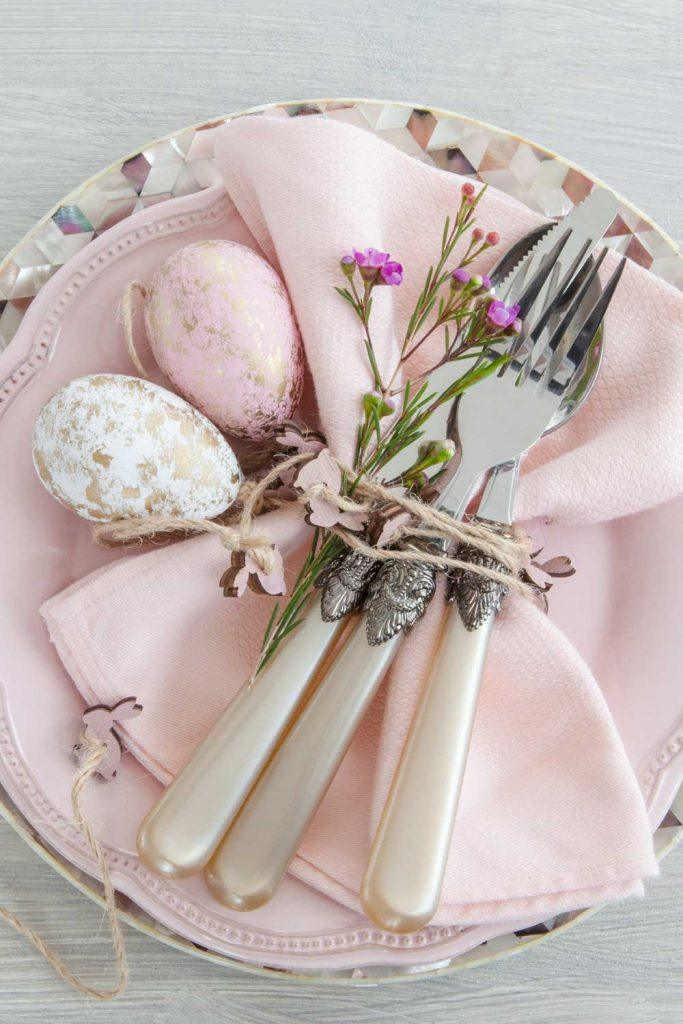 Pastel Pink Palette Napkin Ring for Easter