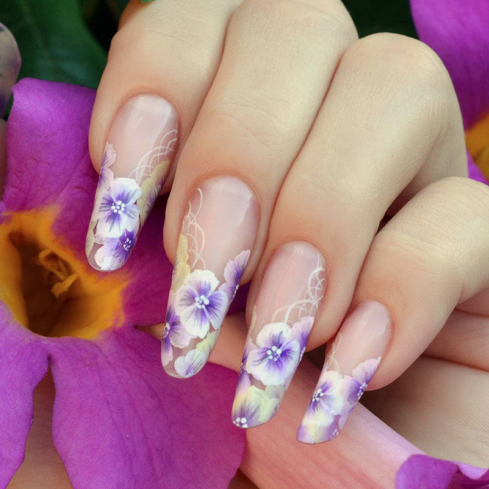 Floral French Spring Nails