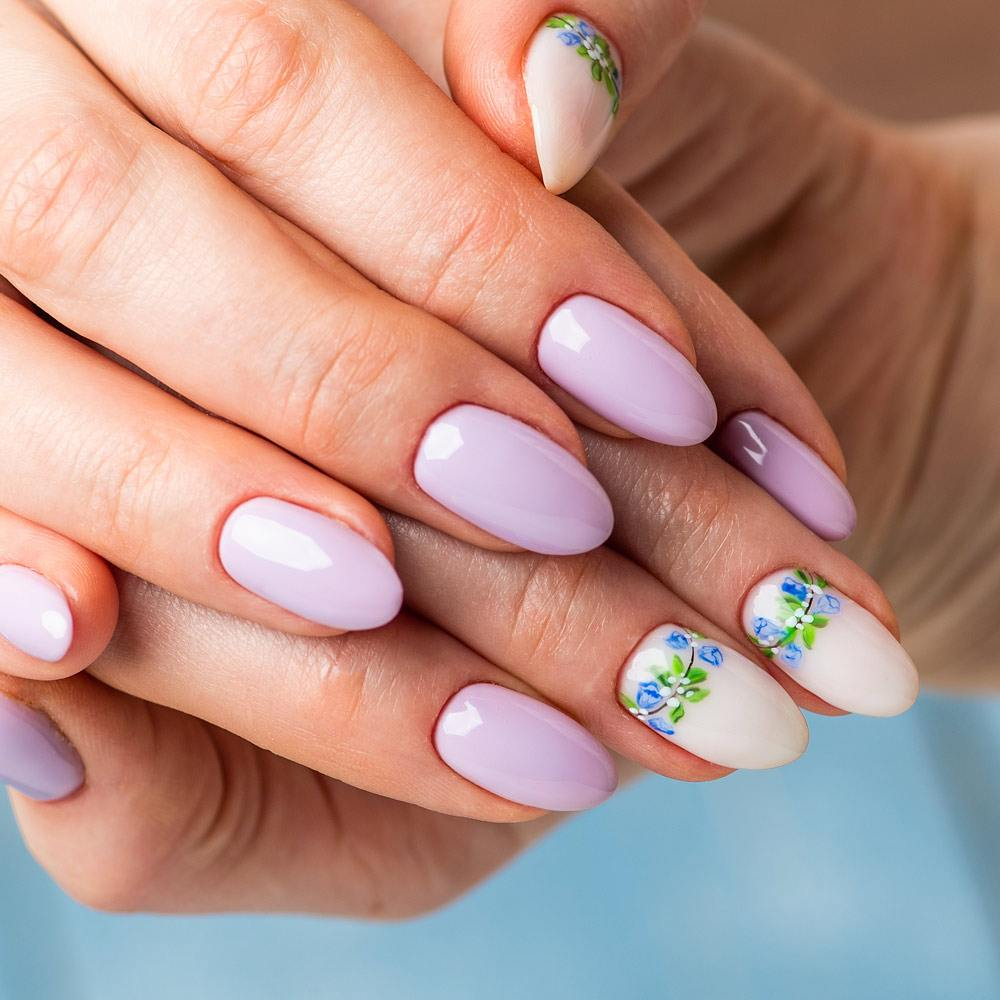 Pastel Purple Spring Nails